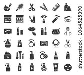 solid or glyphs icon  cosmetic... | Shutterstock .eps vector #1064525390