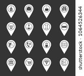 points of interest icons set... | Shutterstock .eps vector #1064526344