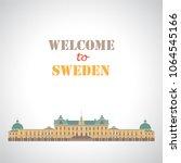 drottningholm palace. stockholm ... | Shutterstock .eps vector #1064545166