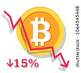 bitcoin exchange rate growth... | Shutterstock .eps vector #1064545448