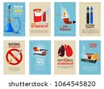 different vector cards with... | Shutterstock .eps vector #1064545820