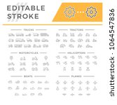 set line icons of transport | Shutterstock .eps vector #1064547836