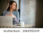 young business woman on the... | Shutterstock . vector #1064550149