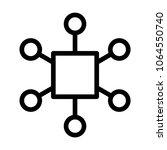 multi channel icon  vector...   Shutterstock .eps vector #1064550740