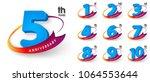 set of anniversary emblems  ... | Shutterstock .eps vector #1064553644