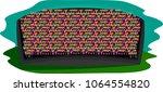 vector stylized black sports... | Shutterstock .eps vector #1064554820