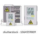 electric box  industrial... | Shutterstock .eps vector #1064559809