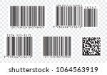 bar code icon. set of modern... | Shutterstock .eps vector #1064563919