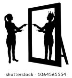silhouette vector of a...   Shutterstock .eps vector #1064565554