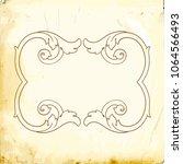 retro baroque decorations... | Shutterstock .eps vector #1064566493