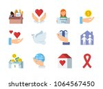 colored vector symbols of... | Shutterstock .eps vector #1064567450