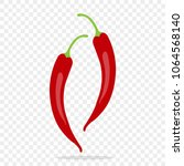 red chili pepper icon. spicy... | Shutterstock .eps vector #1064568140