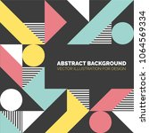 modern background with circles  ... | Shutterstock .eps vector #1064569334
