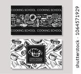 business cards for cookind...   Shutterstock .eps vector #1064571929