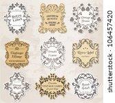 vector set  vintage frames ...