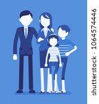 happy family portrait. social...   Shutterstock .eps vector #1064574446
