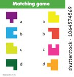 matching game. educational... | Shutterstock .eps vector #1064574569