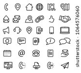 contact us icon set | Shutterstock .eps vector #1064576060
