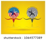 texas with nickname the lone... | Shutterstock .eps vector #1064577389