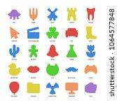basic design icons set. simple...   Shutterstock .eps vector #1064577848