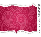 torn paper with a paisley... | Shutterstock .eps vector #106458359