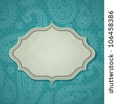 frame in the indian style in... | Shutterstock .eps vector #106458386