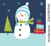 cute snowman design | Shutterstock .eps vector #1064584346