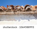 roof of old country house with... | Shutterstock . vector #1064588993