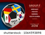 russia world cup 2018 football. ... | Shutterstock .eps vector #1064593898