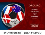 russia world cup 2018 football. ... | Shutterstock .eps vector #1064593910