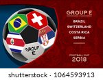 russia world cup 2018 football. ... | Shutterstock .eps vector #1064593913