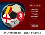 russia world cup 2018 football. ... | Shutterstock .eps vector #1064593916