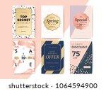modern promotion cell phone web ... | Shutterstock .eps vector #1064594900