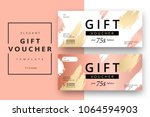 Trendy abstract gift voucher...