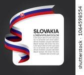 slovakia flag background | Shutterstock .eps vector #1064598554