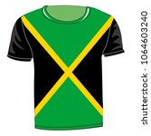 t shirt flag jamaica on white... | Shutterstock .eps vector #1064603240