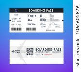 boarding pass ticket card... | Shutterstock .eps vector #1064605829