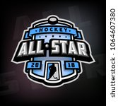 all stars of hockey  logo ... | Shutterstock .eps vector #1064607380