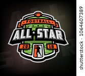 all stars of football  logo ...   Shutterstock .eps vector #1064607389