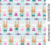 vector seamless pattern with... | Shutterstock .eps vector #1064608106
