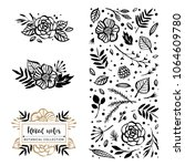 flower logo template. bloom... | Shutterstock .eps vector #1064609780