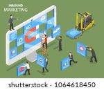 inbound marketing flat... | Shutterstock .eps vector #1064618450