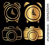 gold vector set collection of... | Shutterstock .eps vector #1064620244
