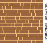 seamless texture of a brick... | Shutterstock . vector #1064621786