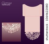 laser cut wedding invitation... | Shutterstock .eps vector #1064622080