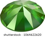 beautiful faceted green... | Shutterstock .eps vector #1064622620