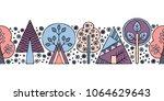 hand drawn seamless pattern ...   Shutterstock . vector #1064629643