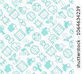 hospital seamless pattern with... | Shutterstock .eps vector #1064634239