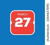 march 27 calendar flat icon