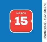 march 15 calendar flat icon